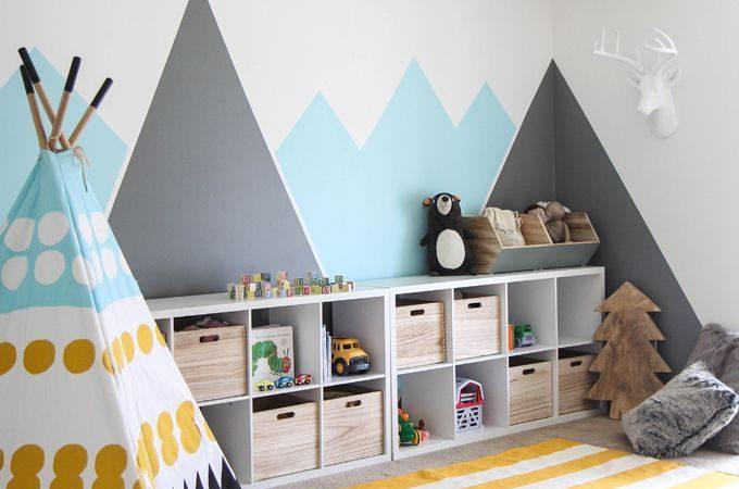Kid's Colorful Camp Playroom