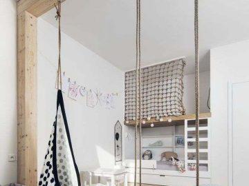 Modernes Kinderzimmer, in dem die Gestaltung des Bettes den Unterschied macht: 18 Ideen …   🏠 Kinderzimmer Ideen - bingefashion.com/dekor