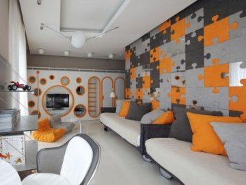 Optimistic Kids Room Design for Two Boys by Geometrix Design Studio